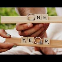 One Year Wedding Anniversary
