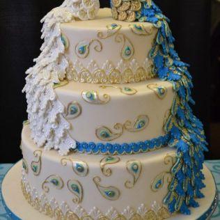 Peacock Themed Wedding Cake — Liviroom Decors Peacock Themed