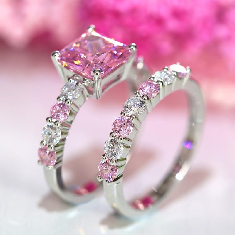 Pink wedding rings junglespirit Gallery