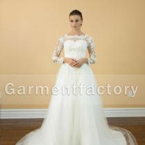 Plus Size Wedding Dress Scalloped Neckline A
