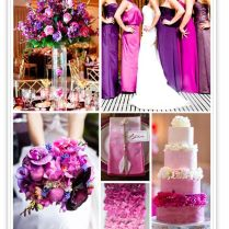 Purple And Fuschia Wedding Decorations