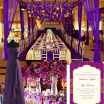 Purple And Gold Wedding Party