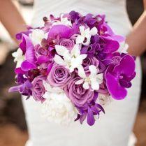 Purple Orchid Bouquets Wedding