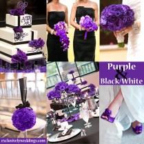 Purple White Wedding