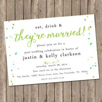 Reception Invitation After Eloping Wedding Reception Invitation