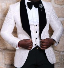 Red White Black Men Wedding Suits With Pants Slim Fit Costume
