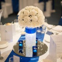 Royal Blue And Ivory Wedding Decorations 8369