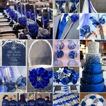 Royal Blue, White And Silver Weddings