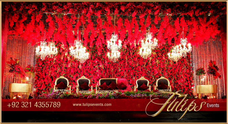 Red and gold wedding backdrop junglespirit Gallery