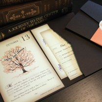 Sample Fall Vintage Book Wedding Invitation Pocketfold