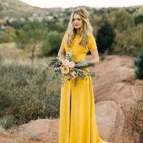 Sarah Seven Yellow Wedding Dress For A Fall Wedding » Make Me Happy