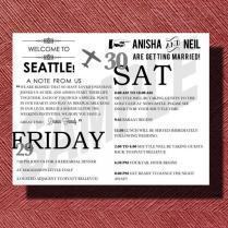 Seattle Washington Destination Wedding Welcome Bag Weekend