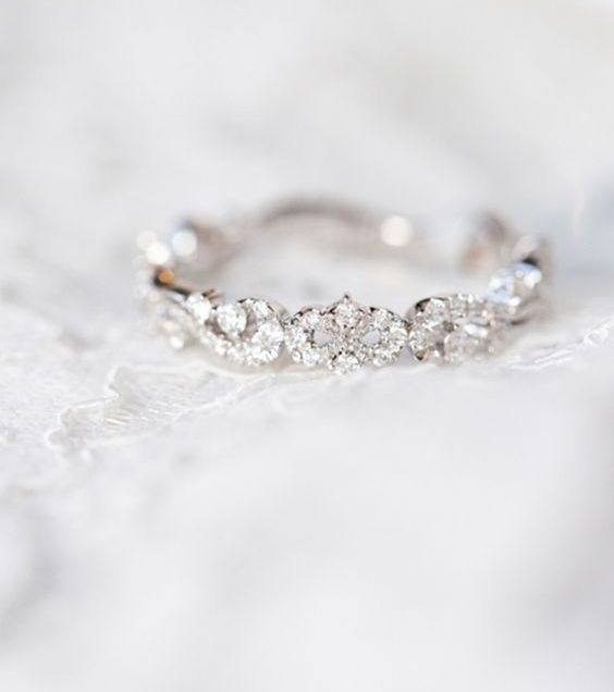 Show Me Your Thin And Dainty Wedding Band Weddingbee With Regard