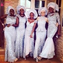 Silver Mermaid Bridesmaid Dresses Arabic African Wedding Guest