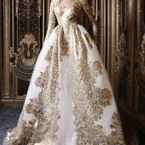 Simple Decoration Cream And Gold Wedding Dress Bridesmaid Dresses