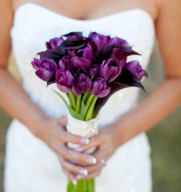 Simple Purple Wedding Bouquets Best 25 Tulip Bridal Bouquet Ideas