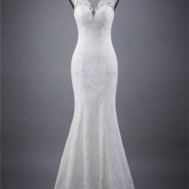 Slim Mermaid Scoop Neck Corset Back Vintage Lace Wedding Dress