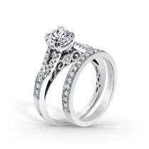 Stella Split Shank Filigree And Milgrain Edging Engagement Ring