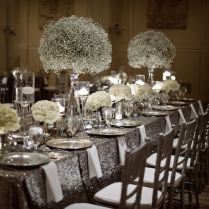 Stunning Black Silver And White Wedding Ideas