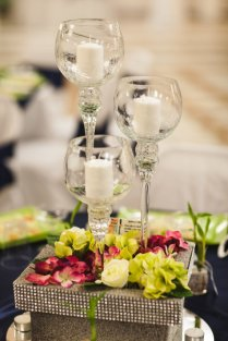 Stunning Wine Glass Wedding Centerpieces Photos