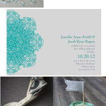 Teal And Grey Wedding Inspiration