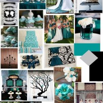 Teal Black And White Weddingjust Love The Teal