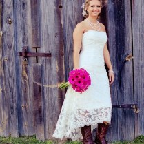 Trend Country Style Wedding Dresses With Cowboy Boots 70 With