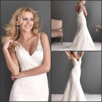 Turmec » Spaghetti Strap Wedding Dress Lace