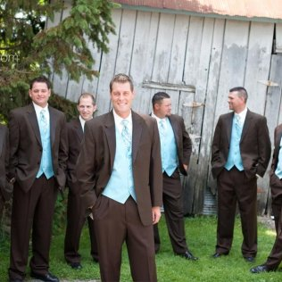 Turquoise And Brown Tuxedos