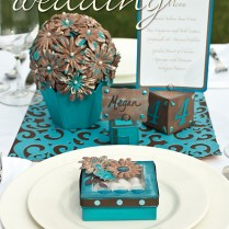 Turquoise And Chocolate