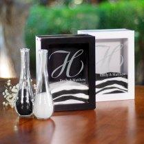 Unity Sand Ceremony Shadow Box Set Black Or White Wedding