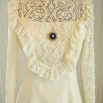 Vintage70's Prairie Western Victorian Edwardian Ecru Lace And