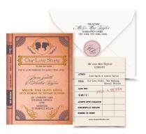 Vintage Book Wedding Invitation Digital Custom Pdf Love Story