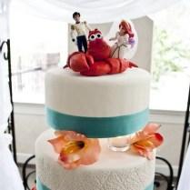 Wedding Cake Little Mermaid Wedding Cake Topper Traditional Bride