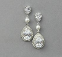 Wedding Earrings Vintage Bridal Earrings Wedding Pearl