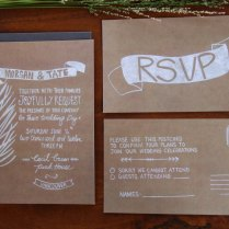 Wedding Invitation Kraft Paper Kraft Paper Wedding Invitations
