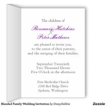 Wedding Invitation Wording For Blended Families A Guide To Wedding