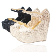 Wedding Shoes Ideas Rhinestones Wedge Wedding Shoes For Bride