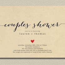 Wedding Shower Invitation Couples With Heart