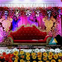 Wedding Stage Decoration @ Vel Sokkanathan Thirmana Nilayam