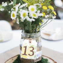 Wedding Table Decorations Jam Jars 13035