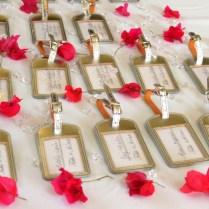 Weddings Hummingbird Hall Jamaica Fuchsia Bling Wedding Favors