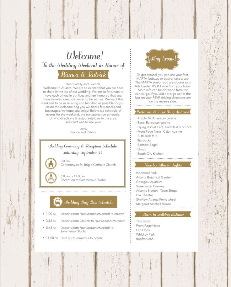 Wedding welcome letter spiritdancerdesigns Image collections