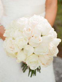 White Roses Bouquet Wedding Best 25 Rose Wedding Bouquet Ideas On