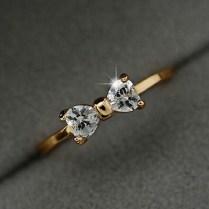 1 8cm Cz Rings Jewelry Finger Bow Ring Wedding Engagement Zircon