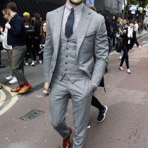 2017 Slim Fit Groom Tuxedos Wedding Formal Party Best Men Suits