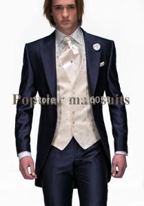 2018 Wholesale Best Selling Mens Wedding Suit Peaked Lapel Party