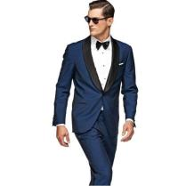 Black Blue One Button Wedding Suits For Mens 2016 The Best Man