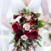 Burgundy Wedding Bouquet
