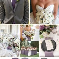 Lavender, Purple, Ivory, Grey Romantic And Elegant Wedding Colour
